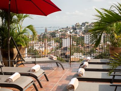 Photo for Bohemian Old Town Home w/Private Terraces and Heated Saltwater Rooftop Pool