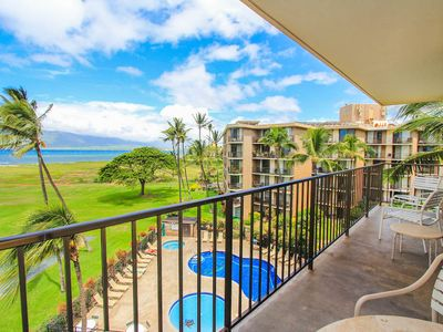 Photo for Getaway with ocean views & lanai- Shared Pool, BBQ Area, Jacuzzi