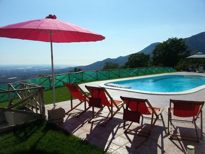 Photo for Peaceful 4 Bedroom hillside villa/stunning views/ pool. At the heart of Campania