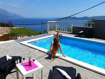 Photo for Family frendly house with heated pool....... perfect holiday for body and soul