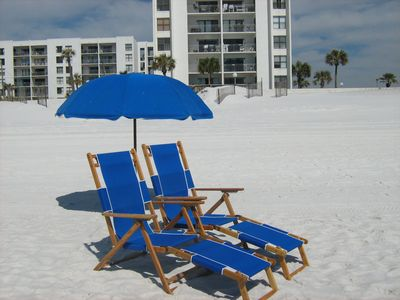 Photo for Luxorious gulf view condo w/ Beach service, Wifi, King bed, heated pool, grills!