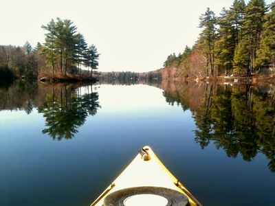 Photo for Private Waterfront Cottage on Pristine Pond in Maine's Lakes Region