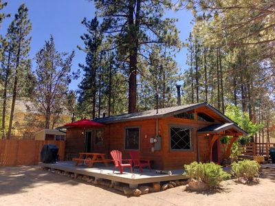 Photo for Honeycomb Hideout | Big Bear Cabin w/ Swiss Fireplace and Hot Tub