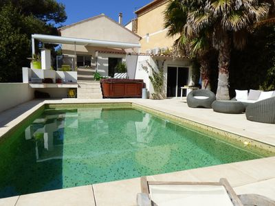 Photo for House in the center of the village with garden, jaccuzi and swimming pool