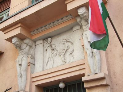 Statues above the main entrance