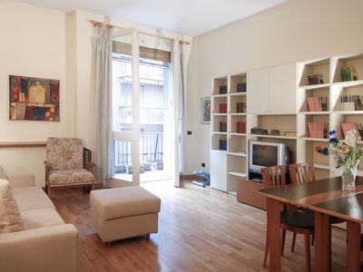 Photo for Bright 2bdr w/ 2 balconies in Brera
