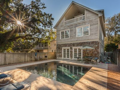 Photo for Sassy Peach Cottage - 5 Bed/4.5 Bath. Large Pool. Near Lighthouse/Pier/Village!