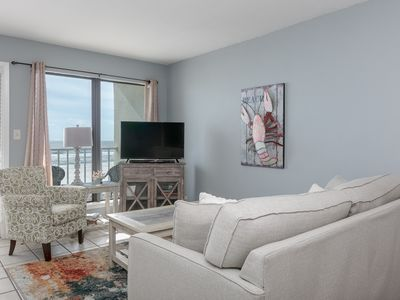 Photo for Gulf front condo w/shared outdoor pool, private balcony, & gorgeous beach views