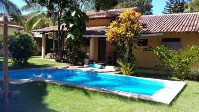 Photo for Beautiful home with large balconies and pool, 150 meters from the beach