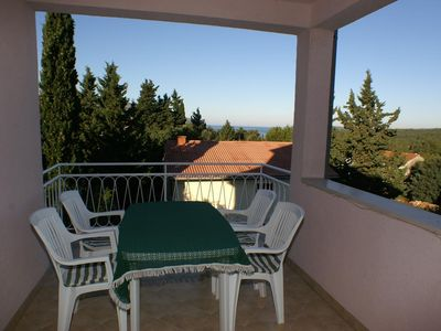 Photo for One bedroom apartment with terrace and sea view Stari Grad (Hvar)