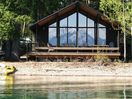 View of the cabin from Lake McDonald