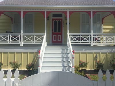 Photo for Fabulous Historic Beach Cottage! Beaches and Seawall 1 Block! Bicycle To Strand!