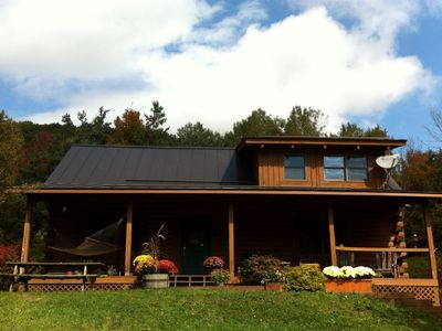 Photo for *MUST SEE* Log Cabin private & amazing Mountain views 2 miles to Ellicottville!!