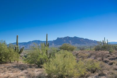 Views, view, views! Breathtaking beauty of Catalina's Pusch Ridge from back yard