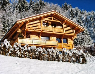 Photo for SUPERB MODERN CHALET - French Alps - La Clusaz 5 km