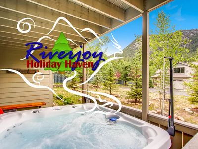 Photo for NEW! 30 Seconds to BIG THOMPSON RIVER!  Hot tub!  Home Theater!  6 Min to RMNP