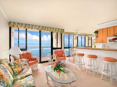 Photo for Oceanfront Kuhio Shores Condo 1BR Top Floor - Fully Air-Conditioned