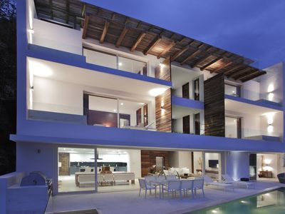 Photo for Luxury and elegant beach front House,modern layout, private pool , stunning view