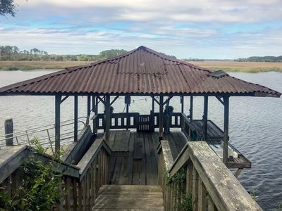 Photo for DeCreek House - Private Dock & Boat Ramp on Deep Water; Expansive Creek Views