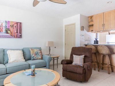 Photo for Bright, open condo, Steps from the gulf, Minutes to entertainment