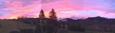 Sunrise in December from our terasse with view on Pic du Midi