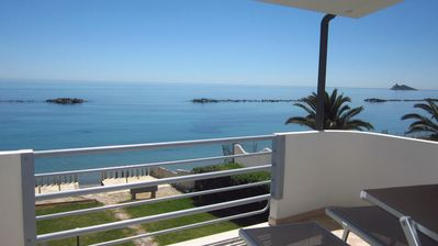 Photo for Terrace on the sea with views of the sparkling sea splendidia