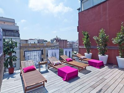 Photo for Renovated apartment in the Center of Barcelona with Pool for 8, Free Wi-Fi