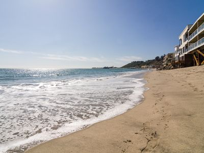 Photo for Stunning and  Peaceful Malibu Beachfront with Full Views and Beach Access