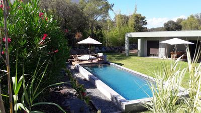 Photo for CONTEMPORARY VILLA WITH POOL IN THE SUN OF THE FRENCH RIVIERA.