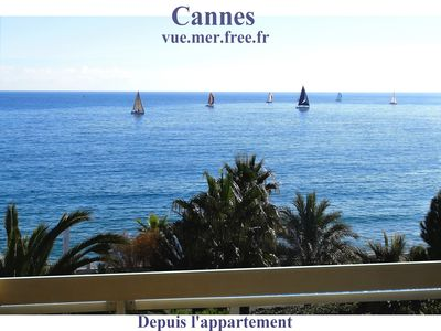 Photo for CANNES Seafront- Luxurious apartment with sea view -Terrace- Pkg- Beaches at 30m
