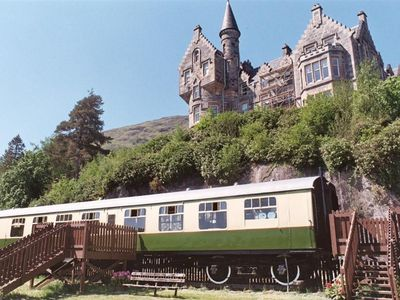 Photo for The Railway Carriage has stunning views over Loch Awe to Kilchurn Castle