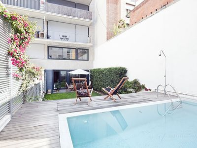 Photo for Apartment Barcelona Rentals - 2 Duplex w/ private pool, garden & Wi-Fi in BCN!