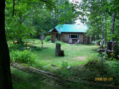 Photo for Adirondack Lakeside Log Cabin With Mountain Views