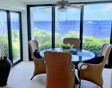 Amazing view from Lanai,  glass sliders  to open for screened in ocean breezes