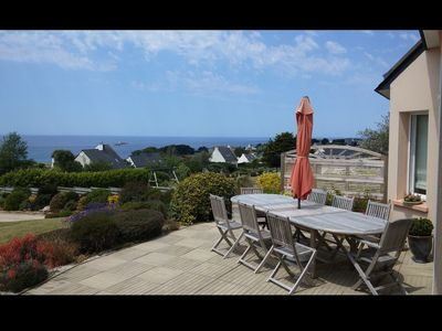 Photo for House with beautiful sea view, beach 400 m