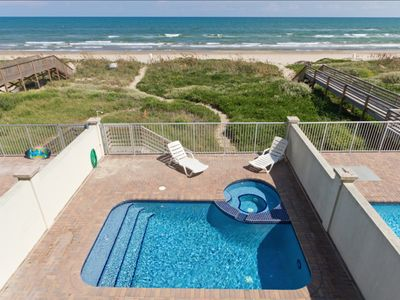 Photo for Elegant Beachfront Home with private pool and hot tub! Right On Gulf Blvd!