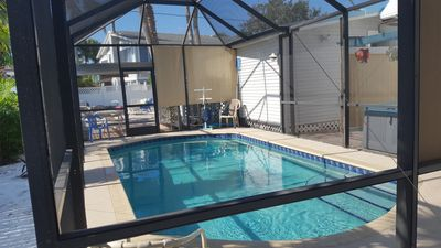 Very private heated Pool