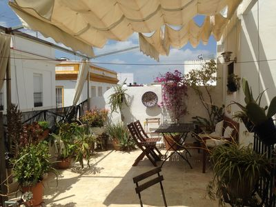 Photo for Rooftop apartment with magnificent terrace in the historical center