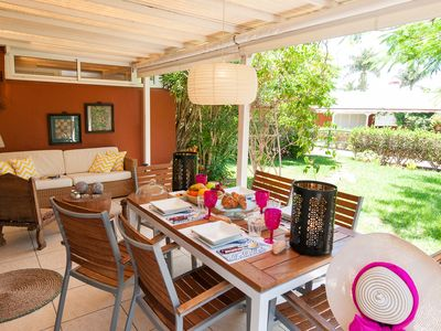 Photo for TOP DESIGN BUNGALOW IN MASPALOMAS WITH SHARED POOL. NEAR SHOPS.20 MINS. TO BEACH