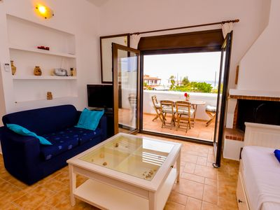 Photo for 2 room apartment ARES for 2-4 pers. in villa Mylos -  great sea views in Ialysos