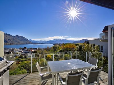 Photo for Magnificent Mountain and Lake Vistas   Stone's throw from downtown  