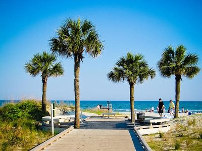 Photo for Best Beaches on HHI & Ocean views from this 1BR villa on South Forest Beach!