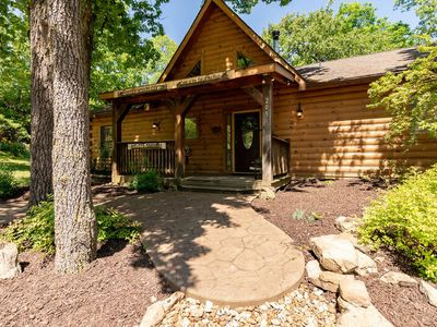 Photo for Top Of The Rock Cabin*Amazing Location*Hot Tub*Fireplace*Great Views*WIFI*Grill