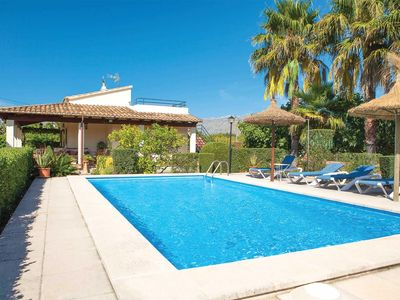 Photo for 2 bed 2 bath traditional villa w/private pool, car essential, close to Puerto Pollensa, free A/C, WiFi, table tennis, hairdryers & Bluetooth speaker.