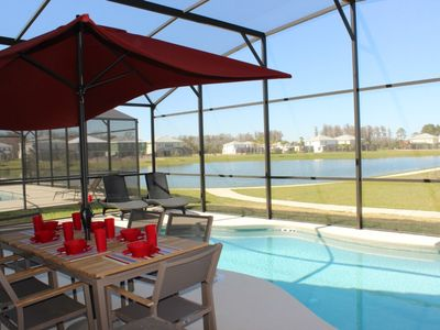 Photo for Lake Front House Resort Near Disney 4 Bed/3 Bath