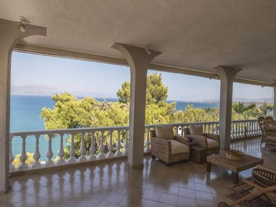 Photo for Marialena luxurious villa with dreamy sea view... - Five Bedroom Villa, Sleeps 16