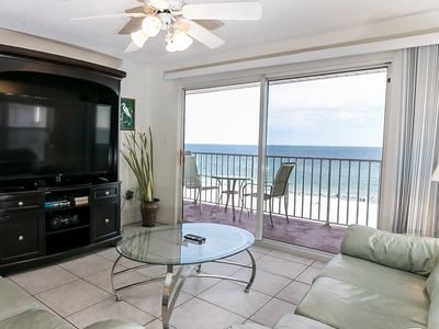 Photo for TP 401: Delightful corner unit- beachfront,HDTV,WIFI,FREE BEACH SERVICE