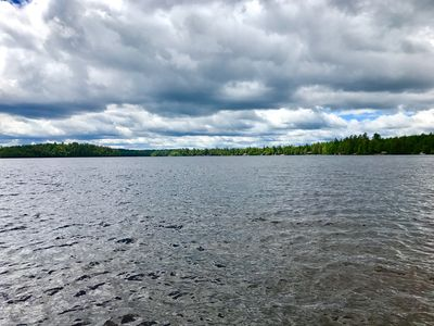 Expansive view of Upper Saranac from private dock