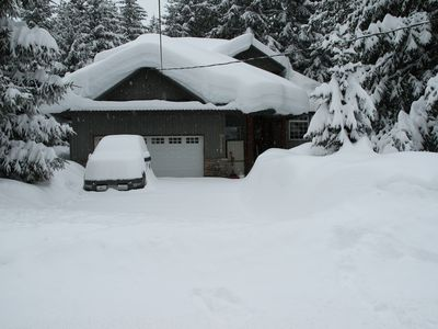 Photo for 3 Bed 3 Bath Exec Chalet,  Hot Tub, quiet area