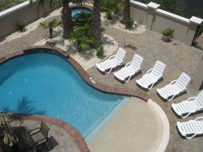 Private Courtyards complete w/Resort Style Private Pool & Jacuzzi & Tiki area